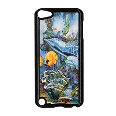 Colorful Aquatic Life Wall Mural Apple iPod Touch 5 Case (Black)
