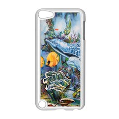 Colorful Aquatic Life Wall Mural Apple iPod Touch 5 Case (White)