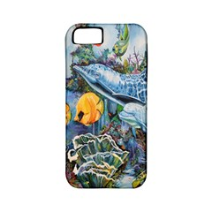 Colorful Aquatic Life Wall Mural Apple iPhone 5 Classic Hardshell Case (PC+Silicone)