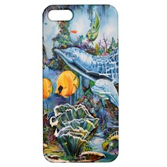 Colorful Aquatic Life Wall Mural Apple iPhone 5 Hardshell Case with Stand