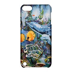 Colorful Aquatic Life Wall Mural Apple iPod Touch 5 Hardshell Case with Stand