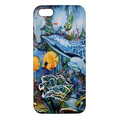 Colorful Aquatic Life Wall Mural Apple iPhone 5 Premium Hardshell Case
