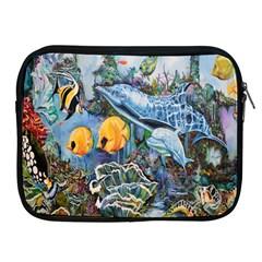 Colorful Aquatic Life Wall Mural Apple iPad 2/3/4 Zipper Cases