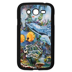Colorful Aquatic Life Wall Mural Samsung Galaxy Grand DUOS I9082 Case (Black)