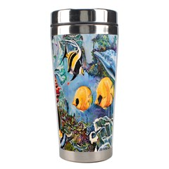 Colorful Aquatic Life Wall Mural Stainless Steel Travel Tumblers
