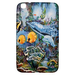 Colorful Aquatic Life Wall Mural Samsung Galaxy Tab 3 (8 ) T3100 Hardshell Case