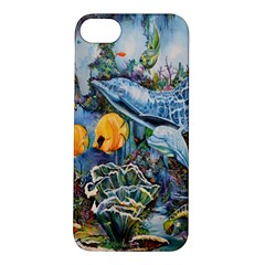 Colorful Aquatic Life Wall Mural Apple iPhone 5S/ SE Hardshell Case