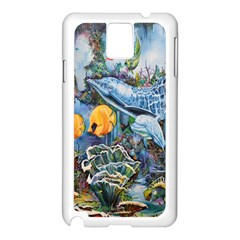 Colorful Aquatic Life Wall Mural Samsung Galaxy Note 3 N9005 Case (White)