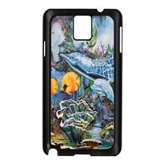Colorful Aquatic Life Wall Mural Samsung Galaxy Note 3 N9005 Case (Black)