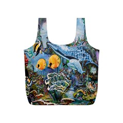Colorful Aquatic Life Wall Mural Full Print Recycle Bags (S)