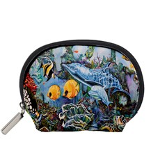 Colorful Aquatic Life Wall Mural Accessory Pouches (Small)
