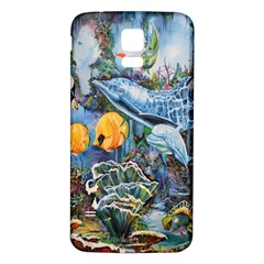 Colorful Aquatic Life Wall Mural Samsung Galaxy S5 Back Case (White)