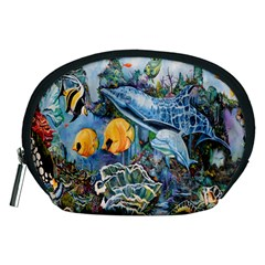 Colorful Aquatic Life Wall Mural Accessory Pouches (medium)