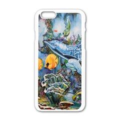 Colorful Aquatic Life Wall Mural Apple Iphone 6/6s White Enamel Case