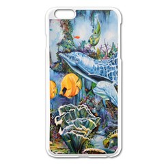 Colorful Aquatic Life Wall Mural Apple iPhone 6 Plus/6S Plus Enamel White Case