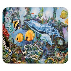 Colorful Aquatic Life Wall Mural Double Sided Flano Blanket (Small)