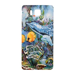 Colorful Aquatic Life Wall Mural Samsung Galaxy Alpha Hardshell Back Case
