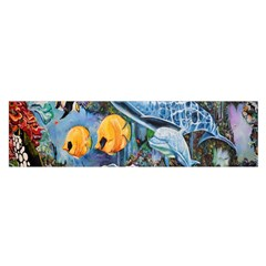 Colorful Aquatic Life Wall Mural Satin Scarf (Oblong)