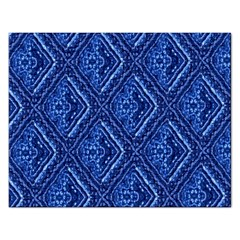Blue Fractal Background Rectangular Jigsaw Puzzl