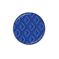 Blue Fractal Background Hat Clip Ball Marker