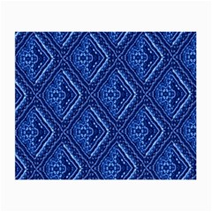 Blue Fractal Background Small Glasses Cloth