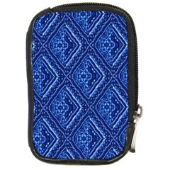 Blue Fractal Background Compact Camera Cases