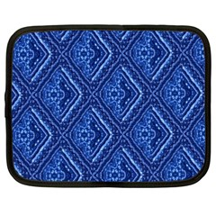 Blue Fractal Background Netbook Case (xxl)