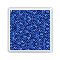 Blue Fractal Background Memory Card Reader (square)
