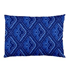 Blue Fractal Background Pillow Case (Two Sides)