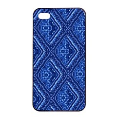Blue Fractal Background Apple iPhone 4/4s Seamless Case (Black)
