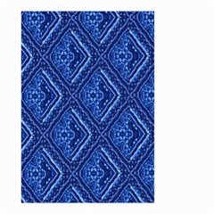Blue Fractal Background Small Garden Flag (Two Sides)