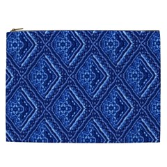 Blue Fractal Background Cosmetic Bag (XXL)