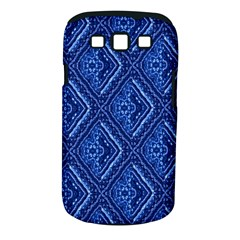 Blue Fractal Background Samsung Galaxy S III Classic Hardshell Case (PC+Silicone)