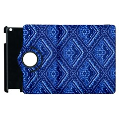Blue Fractal Background Apple iPad 2 Flip 360 Case
