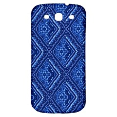 Blue Fractal Background Samsung Galaxy S3 S III Classic Hardshell Back Case