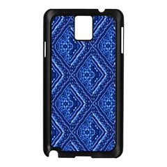 Blue Fractal Background Samsung Galaxy Note 3 N9005 Case (black)