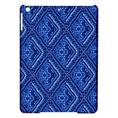 Blue Fractal Background iPad Air Hardshell Cases