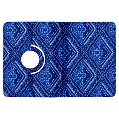 Blue Fractal Background Kindle Fire HDX Flip 360 Case