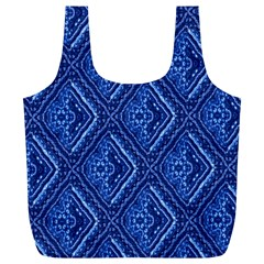 Blue Fractal Background Full Print Recycle Bags (L)