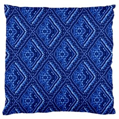 Blue Fractal Background Standard Flano Cushion Case (one Side)