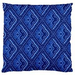 Blue Fractal Background Large Flano Cushion Case (One Side)