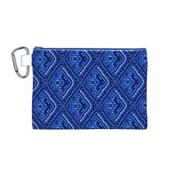 Blue Fractal Background Canvas Cosmetic Bag (M)