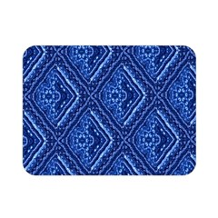 Blue Fractal Background Double Sided Flano Blanket (mini)
