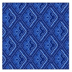 Blue Fractal Background Large Satin Scarf (square)