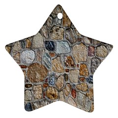 Multi Color Stones Wall Texture Ornament (star)