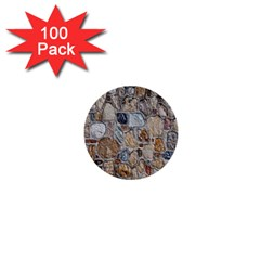 Multi Color Stones Wall Texture 1  Mini Buttons (100 Pack)