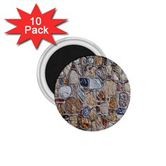 Multi Color Stones Wall Texture 1 75  Magnets (10 Pack)