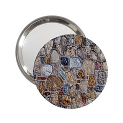 Multi Color Stones Wall Texture 2.25  Handbag Mirrors
