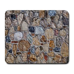 Multi Color Stones Wall Texture Large Mousepads