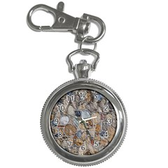 Multi Color Stones Wall Texture Key Chain Watches